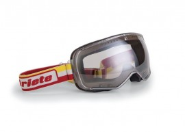 ARIETE FEATHER CAFE RACER GOGGLES - YELLOW/RED STRAP