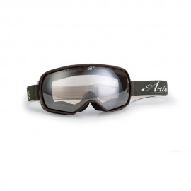 ARIETE FEATHER CAFE RACER GOGGLES - OLIVE/DARK RED