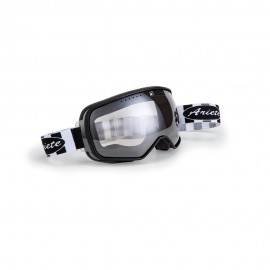ARIETE FEATHER CAFE RACER GOGGLES - BLACK/WHITE